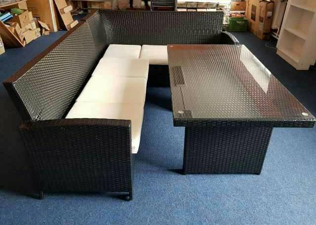 baidani rattan louge essgruppe set prod m inzerce. Black Bedroom Furniture Sets. Home Design Ideas